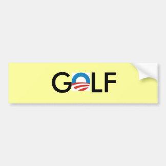 obama golf bumper sticker