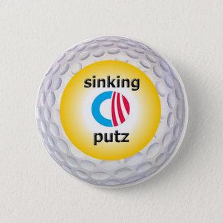 Obama Golf logo 6 Cm Round Badge