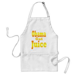 Obama Got Juice Orange Yellow Standard Apron