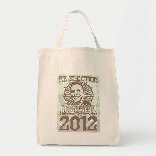 Obama Groovy Re-Election 2012 Gear Tote Bag