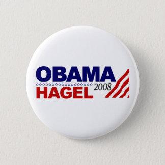Obama Hagel 2008 6 Cm Round Badge