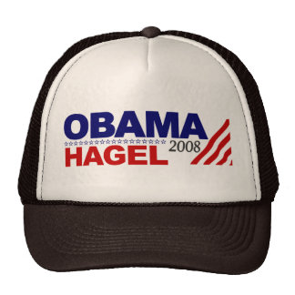 Obama Hagel 2008 Hats