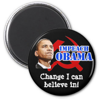 Obama Hammer and Sickle, Change I can believe in! 6 Cm Round Magnet