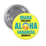 OBAMA/HANABUSA 2012 PINBACK BUTTONS