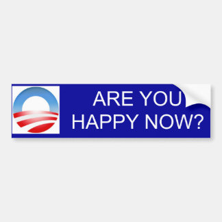 Obama Happy Bumper Sticker