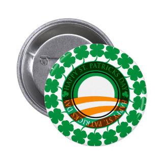 Obama Happy St Patricks Day 6 Cm Round Badge