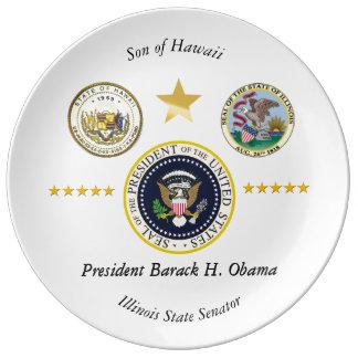 Obama Hawaii Illinois Collectors Plate Porcelain Plates