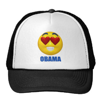 Obama Heart Smiley Face Cap