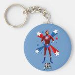Obama Heroic Basic Round Button Key Ring