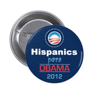 Obama HISPANICS 6 Cm Round Badge