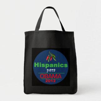 Obama HISPANICS Grocery Tote Bag