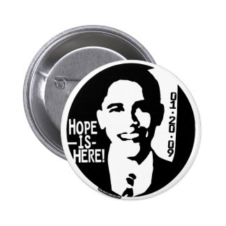 Obama Hope is Here 2009 Gear 6 Cm Round Badge
