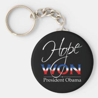 Obama HOPE WON - Keychain
