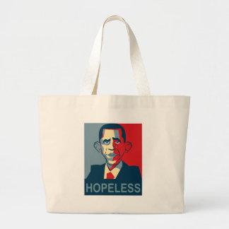 Obama hopeless jumbo tote bag