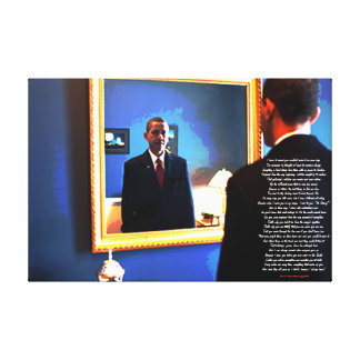 Obama, I knew you Canvas Print