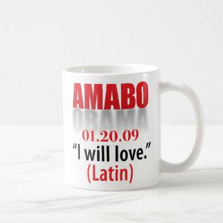 Obama I will love Classic White Coffee Mug
