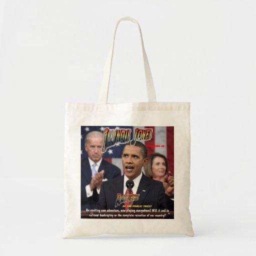 Obama ILLINOIS JONES - Raiders of the Public Trust Bags