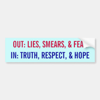 Obama In and Out Bumper Sticker