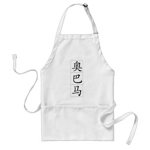Obama in Chinese Aprons