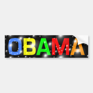 Obama in Colorful Bubbles Bumper Sticker