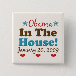 Obama In The House Square Button