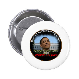 Obama in the Whitehouse Pinback Button