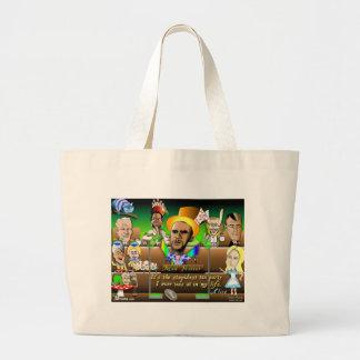 Obama in Wonderland Canvas Bag