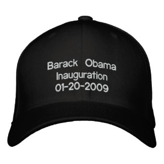 Obama Inauguration 20-01-09 Embroidered Hat