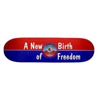 Obama Inauguration A New Birth of Freedom 21.6 Cm Old School Skateboard Deck