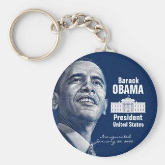 Obama Inauguration Basic Round Button Key Ring