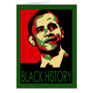 Obama Inauguration, Black History Month T-Shirts Card