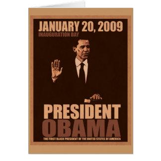 Obama Inauguration Card