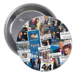 Obama Inauguration Newspaper Button