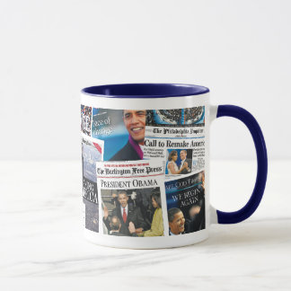 Obama Inauguration Newspaper Mug