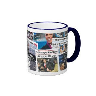 Obama Inauguration Newspaper Mug