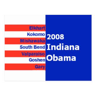 Obama INDIANA Postcard