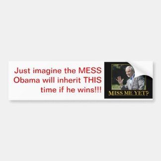 OBAMA, INHERIT, POLITICS BUMPER STICKER