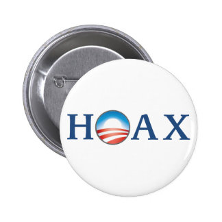 Obama is a HOAX 6 Cm Round Badge