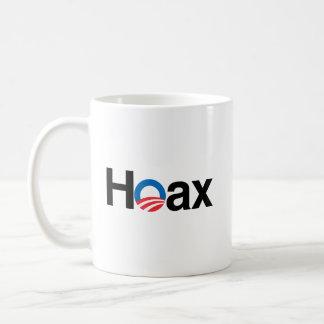 OBAMA IS A HOAX BASIC WHITE MUG