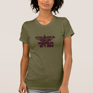 OBAMA IS A ROCK STAR T SHIRT