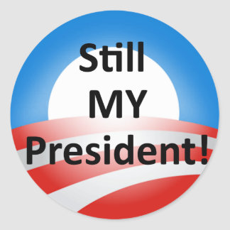 Obama Is My President Dump Trump Sticker