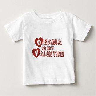 Obama is my Valentine Baby T-Shirt