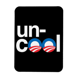 OBAMA IS UNCOOL RECTANGLE MAGNET