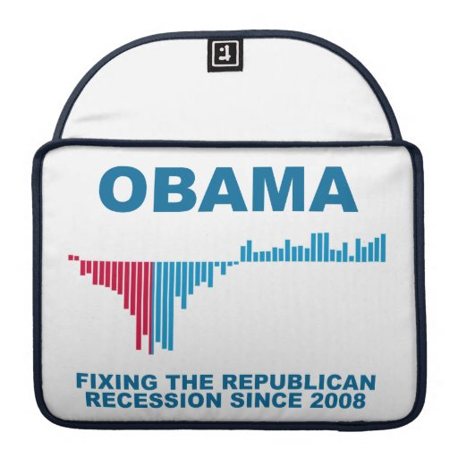 Obama Job Growth Graph Sleeves For MacBooks