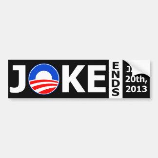 Obama Joke Ends 2013 Bumper Sticker