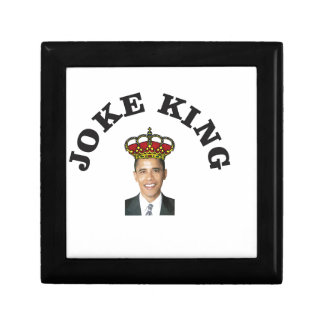 Obama Joke King Small Square Gift Box
