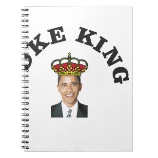 Obama Joke King Spiral Notebook