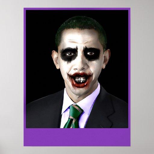 Obama Joker Customizable Poster