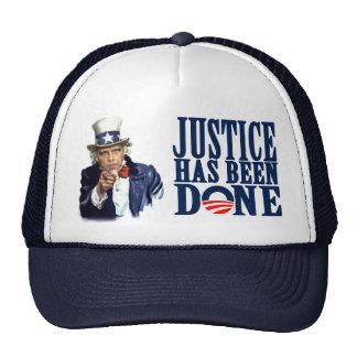 Obama Justice has been done Bin Laden Dead Cap