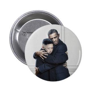 Obama Kim Jong Un North Korea Love 6 Cm Round Badge